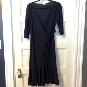 NWT Navy Kiyonna Wrap Dress - Sz 1